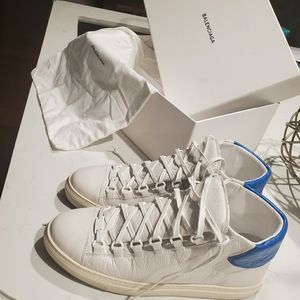 Balenciaga 'Arena' High Top White Sneakers Mens